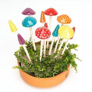Ceramic Mushrooms Set of 3