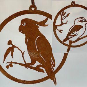 Single Ring Birds Kookaburra/Cockatoo