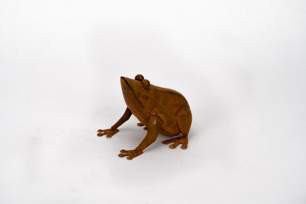 Rust Sitting Frogs