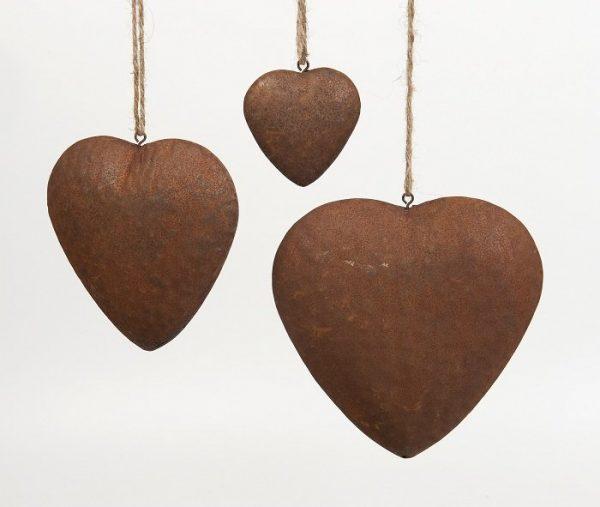 1979 Large 1986 Medium 1993 Small Rusty hearts