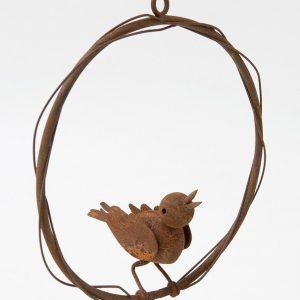 Rustic Circle Bird Hanger