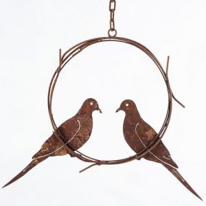 5175 Doves in Wreath ring