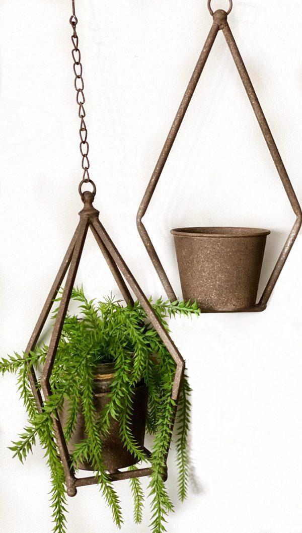 Hanging Rustic Metal Planter
