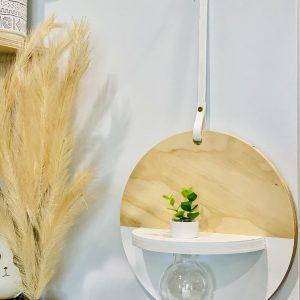 Solid Round Wood Vase