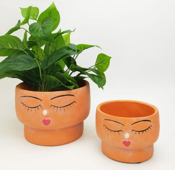 Face Squat Planter