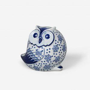 owl ceramic blue PE1034